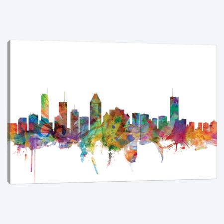 Montreal, Canada Skyline Canvas Print #MTO1109} by Michael Tompsett Canvas Print
