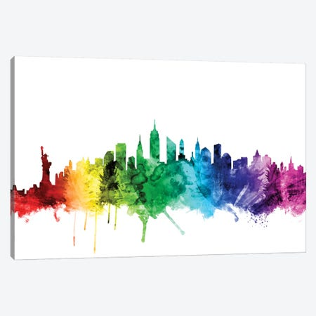 New York City, New York, USA II Canvas Print #MTO110} by Michael Tompsett Canvas Print