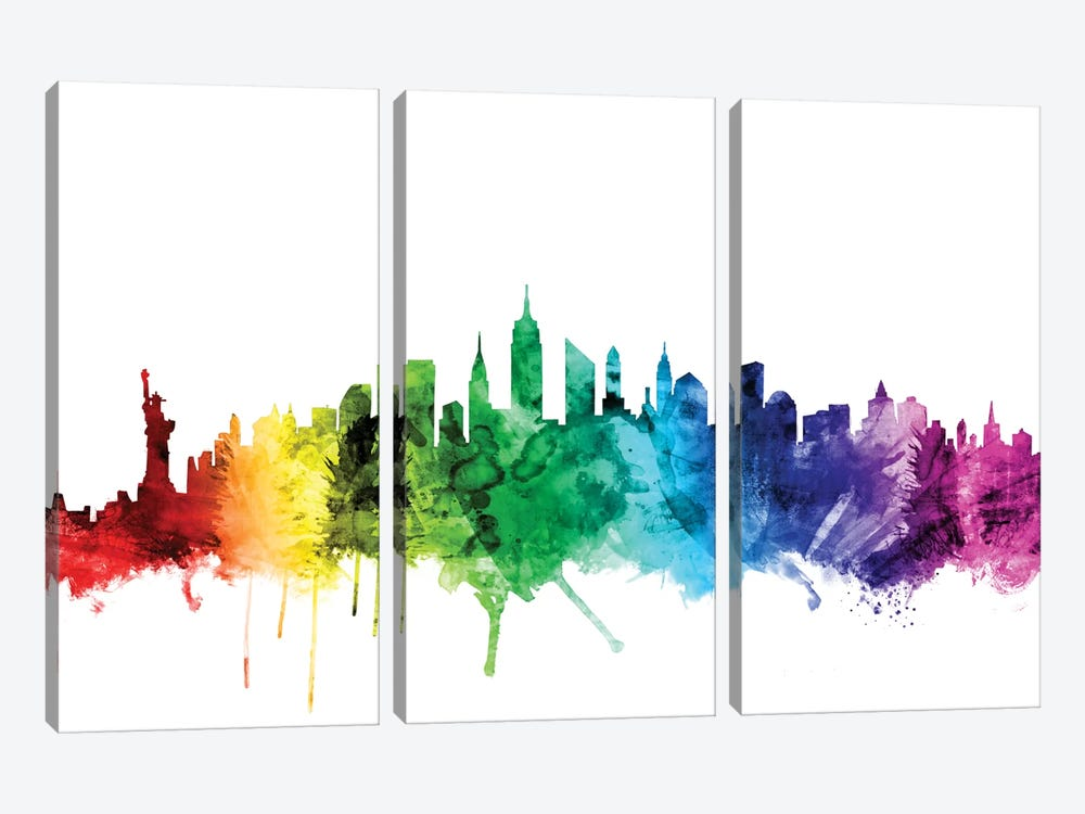 New York City, New York, USA II by Michael Tompsett 3-piece Canvas Print