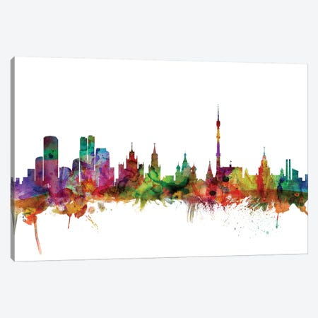Moscow, Russia Skyline Canvas Print #MTO1110} by Michael Tompsett Canvas Art
