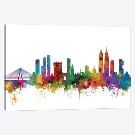 Mumbai (Bombay), India Skyline  Canvas Print #MTO1111} by Michael Tompsett Canvas Wall Art