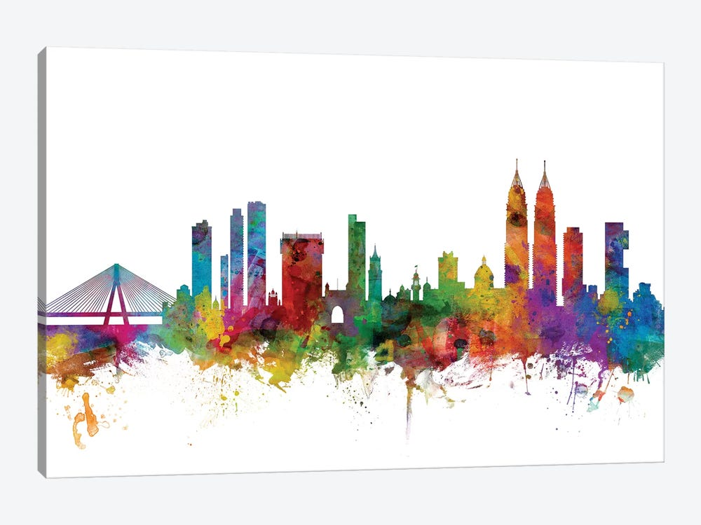 Mumbai (Bombay), India Skyline  by Michael Tompsett 1-piece Canvas Wall Art