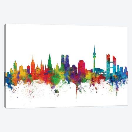 Munich, Germany Skyline Canvas Print #MTO1112} by Michael Tompsett Canvas Art