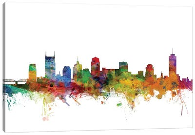 Nashville, Tennessee Skyline Canvas Art Print