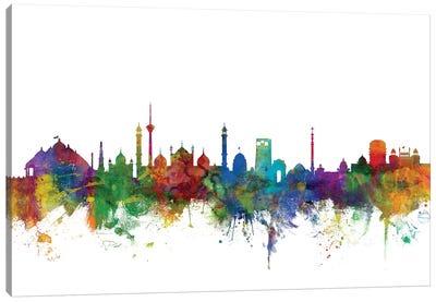 New Delhi, India Skyline Canvas Art Print