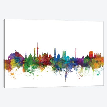 New Delhi, India Skyline Canvas Print #MTO1114} by Michael Tompsett Canvas Art Print