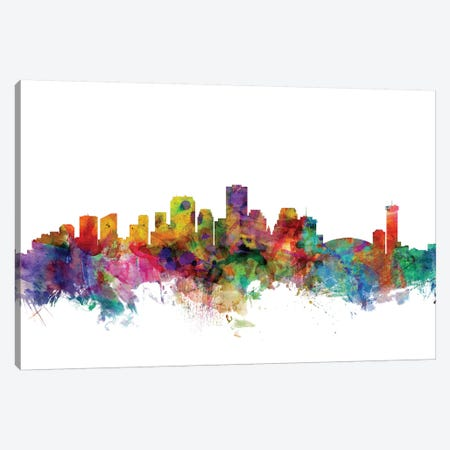 New Orleans, Louisiana Skyline Canvas Print #MTO1115} by Michael Tompsett Canvas Art Print