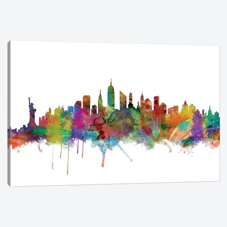New York City Skyline Canvas Print #MTO1116} by Michael Tompsett Art Print