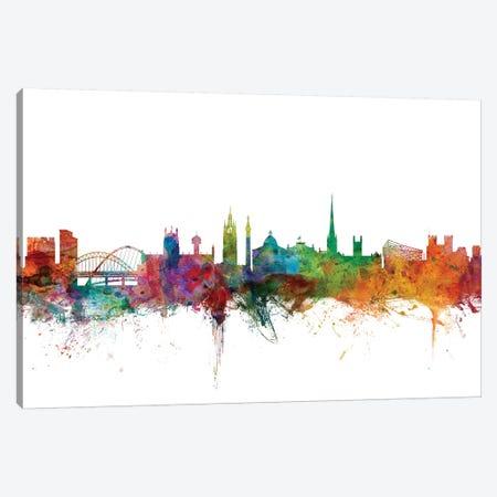 Newcastle, England Skyline Canvas Print #MTO1118} by Michael Tompsett Canvas Wall Art
