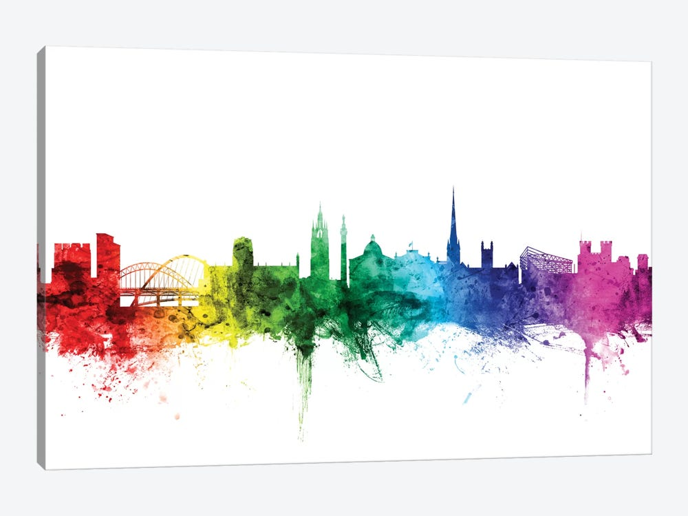 Newcastle, England, United Kingdom by Michael Tompsett 1-piece Canvas Wall Art