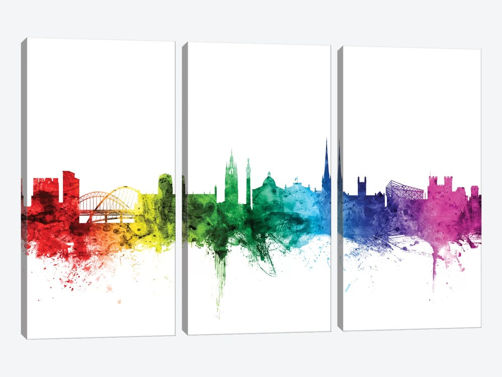 Newcastle, England, United Kingdom by Michael Tompsett 3-piece Canvas Art