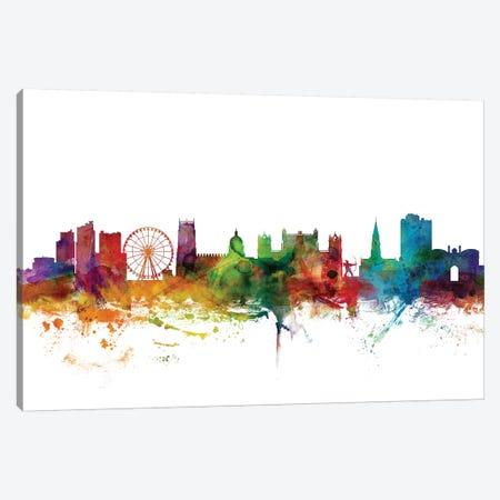 Nottingham, England Skyline Canvas Print #MTO1122} by Michael Tompsett Canvas Art Print