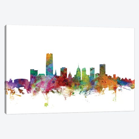Oklahoma City Skyline Canvas Print #MTO1123} by Michael Tompsett Canvas Art Print