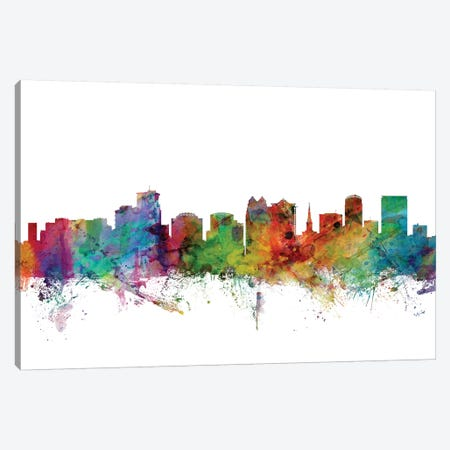 Orlando, Florida Skyline Canvas Print #MTO1124} by Michael Tompsett Canvas Wall Art