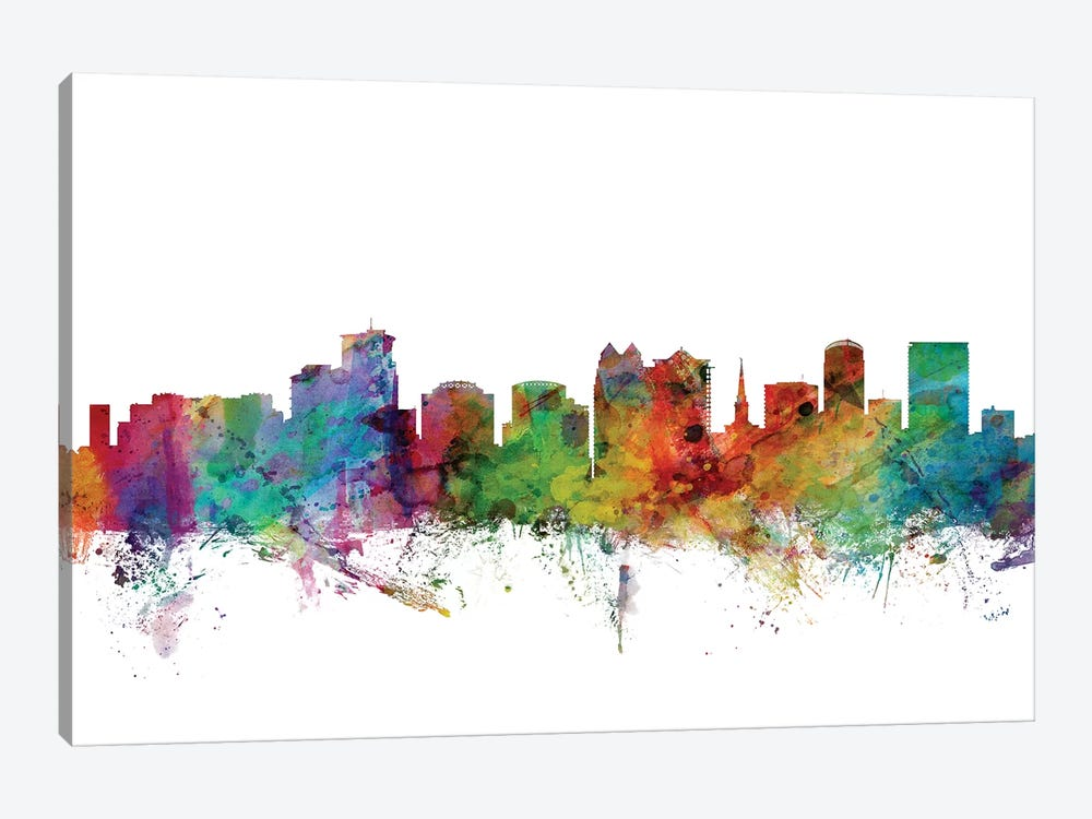 Orlando, Florida Skyline by Michael Tompsett 1-piece Canvas Artwork