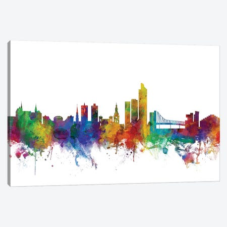 Oslo, Norway Skyline Canvas Print #MTO1125} by Michael Tompsett Canvas Artwork