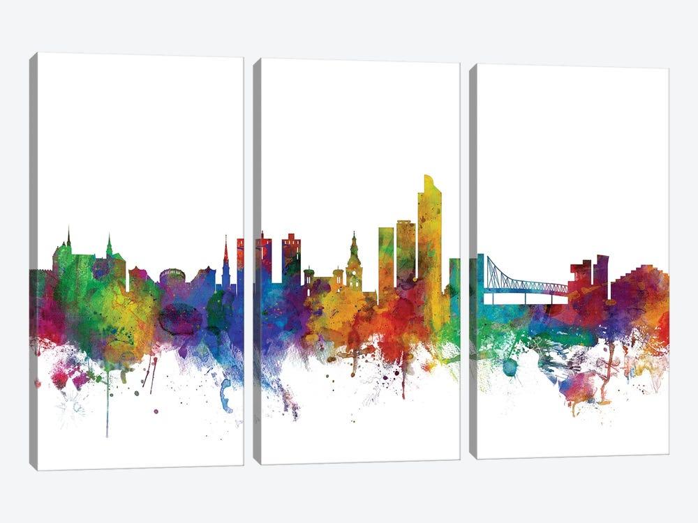 Oslo, Norway Skyline by Michael Tompsett 3-piece Art Print
