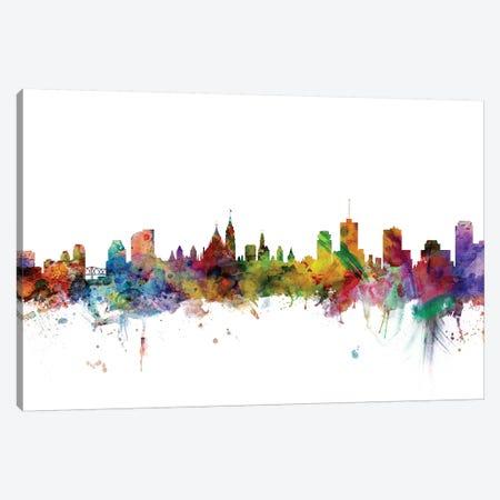 Ottawa, Canada Skyline Canvas Print #MTO1126} by Michael Tompsett Canvas Artwork