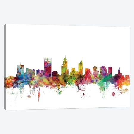 Perth, Australia Skyline Canvas Print #MTO1129} by Michael Tompsett Canvas Art Print