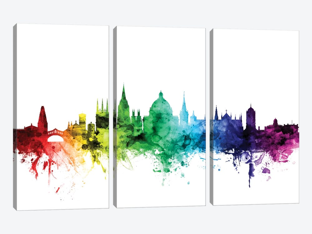 Oxford, England, United Kingdom by Michael Tompsett 3-piece Canvas Art Print
