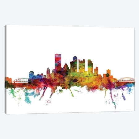 Pittsburgh, Pennsylvania Skyline Canvas Print #MTO1132} by Michael Tompsett Canvas Art