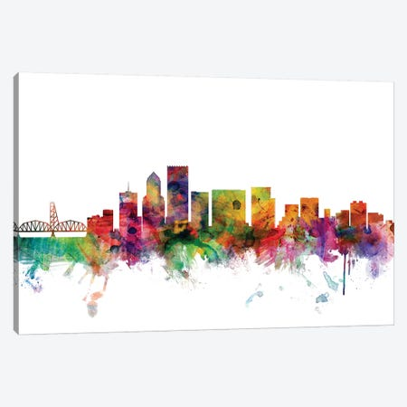 Portland, Oregon Skyline Canvas Print #MTO1135} by Michael Tompsett Canvas Print