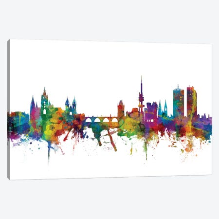 Prague (Praha), Czech Republic Skyline Canvas Print #MTO1137} by Michael Tompsett Canvas Art Print