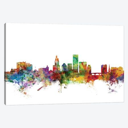 Providence, Rhode Island Skyline Canvas Print #MTO1139} by Michael Tompsett Canvas Art
