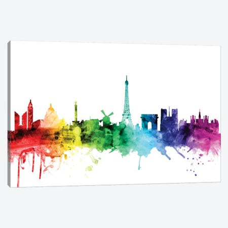 Paris, France Canvas Print #MTO113} by Michael Tompsett Art Print