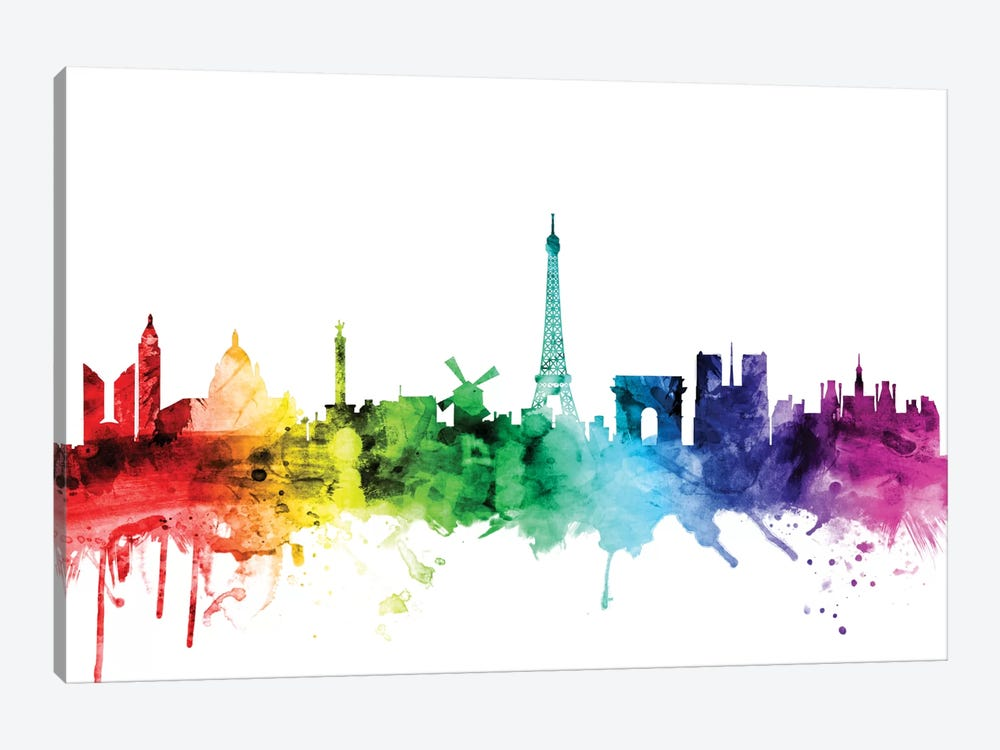 Paris, France by Michael Tompsett 1-piece Canvas Art