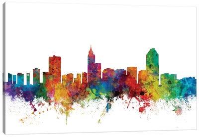 Raleigh, North Carolina Skyline Canvas Art Print