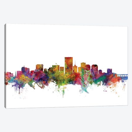 Richmond, Virginia Skyline Canvas Print #MTO1142} by Michael Tompsett Canvas Print