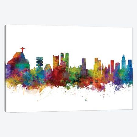 Rio de Janeiro, Brazil Skyline Canvas Print #MTO1143} by Michael Tompsett Canvas Art Print
