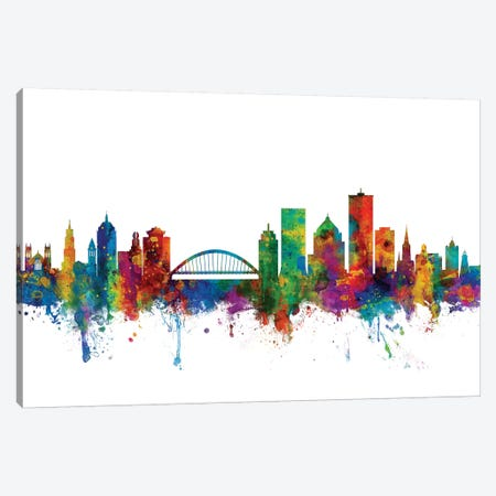 Rochester, New York Skyline Canvas Print #MTO1144} by Michael Tompsett Canvas Art