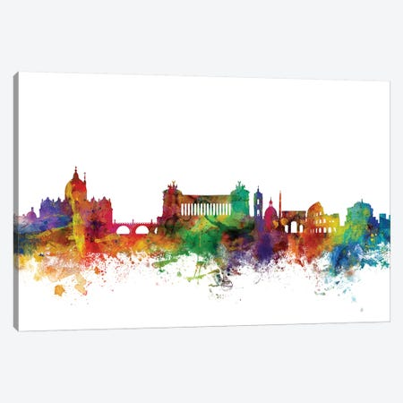 Rome, Italy Skyline Canvas Print #MTO1145} by Michael Tompsett Canvas Wall Art