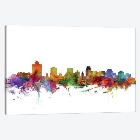 Salt Lake City, Utah Skyline Canvas Print #MTO1149} by Michael Tompsett Canvas Art Print