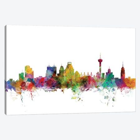 San Antonio, Texas Skyline Canvas Print #MTO1151} by Michael Tompsett Canvas Artwork