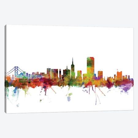 San Francisco, California Skyline Canvas Print #MTO1153} by Michael Tompsett Canvas Art