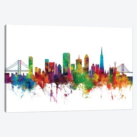 San Francisco, California Skyline Canvas Print #MTO1154} by Michael Tompsett Canvas Art Print