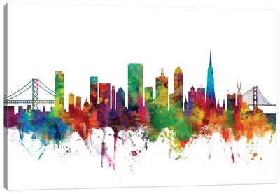 San Francisco, California Skyline Canvas Art Print