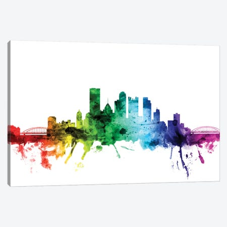 Pittsburgh, Pennsylvania, USA Canvas Print #MTO115} by Michael Tompsett Canvas Wall Art