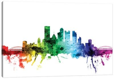 Rainbow Skyline Series: Pittsburgh, Pennsylvania, USA Canvas Print #MTO115