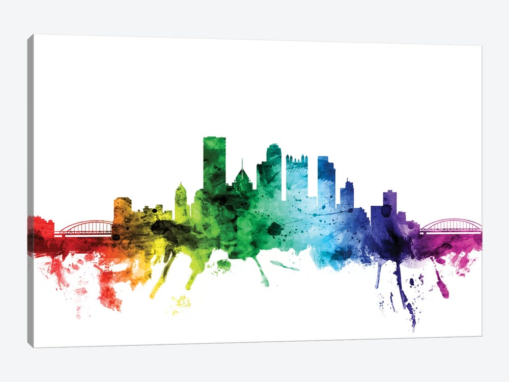 Pittsburgh, Pennsylvania, USA by Michael Tompsett 1-piece Canvas Artwork