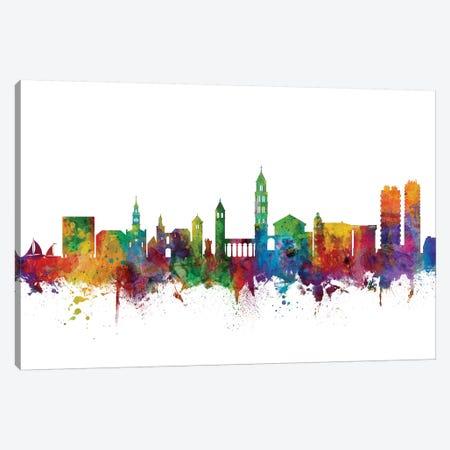 Split, Croatia Skyline Canvas Print #MTO1164} by Michael Tompsett Canvas Art