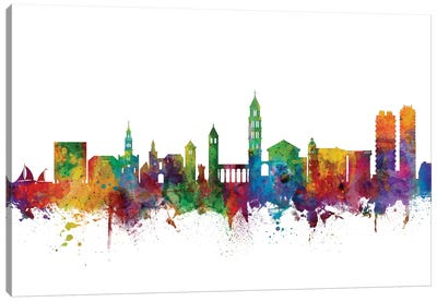 Split, Croatia Skyline Canvas Art Print
