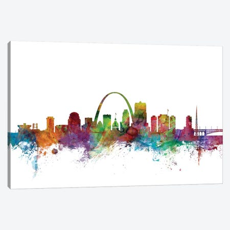 St. Louis, Missouri Skyline Canvas Print #MTO1167} by Michael Tompsett Canvas Artwork