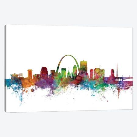 St. Louis, Missouri Skyline Canvas Print #MTO1167} by Michael Tompsett Canvas Artwork