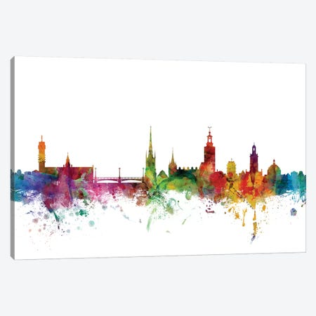 Stockholm, Sweden Skyline Canvas Print #MTO1169} by Michael Tompsett Art Print