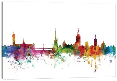 Stockholm, Sweden Skyline Canvas Art Print