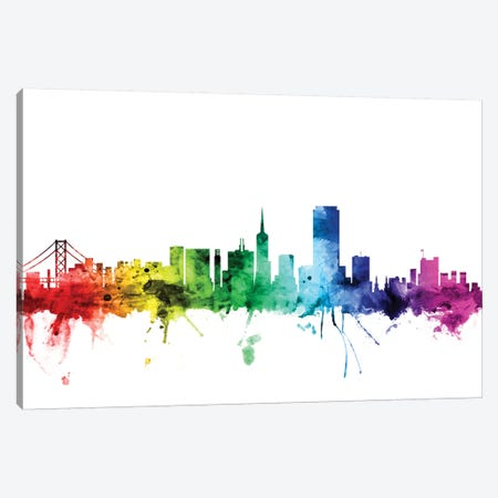 San Francisco, California, USA Canvas Print #MTO116} by Michael Tompsett Canvas Wall Art